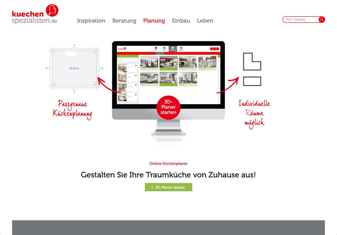 Website relaunch von kuechenspezialistende burgdigital for 3d küchenplaner