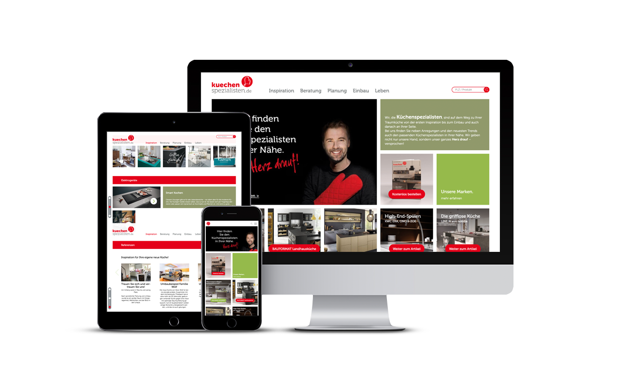 Website Relaunch Von Kuechenspezialistende Burgdigital